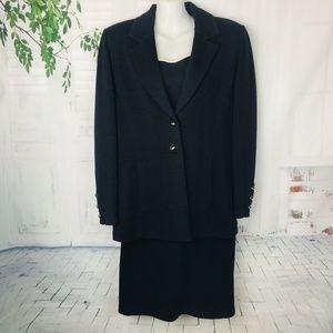 St John Basic Marie Gray 3 Pc Santana Knit Suit 8
